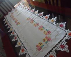 Toalha de mesa floral branco