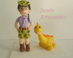 Menina e Dinossauro