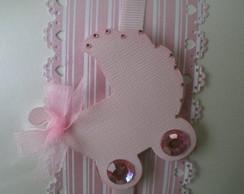 Convite Carrinho menininha rosa