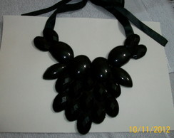 Maxi colar preto Bianca - vendido