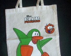 CLUB PENGUIN SACOLA ECO 35X40