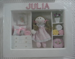 mini guarda-roupa rosa