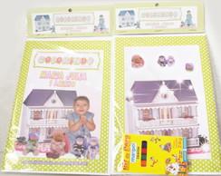 Revistinha Para Colorir Casa de Bonecas