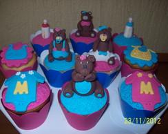 Cup cakes ursinhas para ch� de beb�.