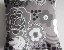 ::Almofada Floral Modern - Cinza::