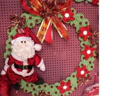 Guirlanda de Natal com Papai Noel