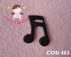 Cod 463 molde de nota musical G