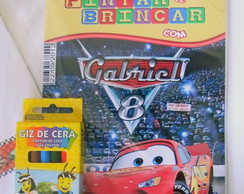 Kit Revista Colorir Carros Disney 21x15