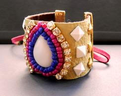 Maxi Bracelete Rosa/Azul Bic