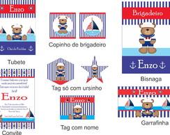 Festa Personalizada Ursinho Marinheiro