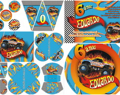 Kit Festa Hot Wheels (5 Artes)