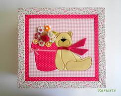 Caixa Ursinho Rosa M alta