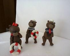 urso marinheiro para bolo falso