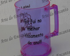 Caneca de chopp colorida lil�s