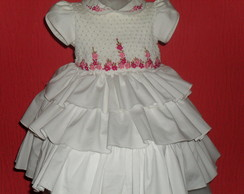vestido de babadinho branco