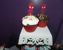Topper Para Cupcake Homem Aranha