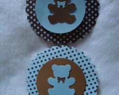 Tag G - Ursinho azul e marrom mod2