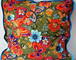[ESG] Capa de almofada borboletas/flores