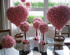 Kit decora��o rosa para festas V
