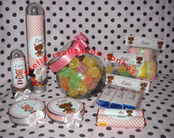 Kits personalizados marrom com  rosa