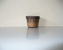 Vaso Pl�stico Decorado com Sisal