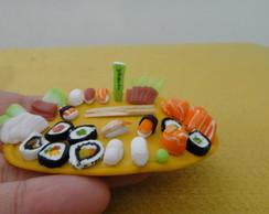 Miniatura Bandeja Sushi e Sashimi