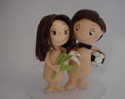 Topo De Bolo Casamento Amar �... Biscuit