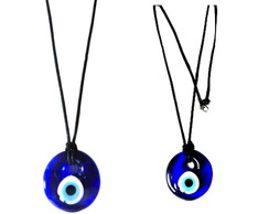 GC8025 - Colar Olho Turco - Medalh�o