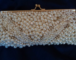 Clutch p�rola e strass design