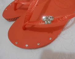 Slim strass lateral e cristais