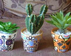 Vasos caveiras mexicanas