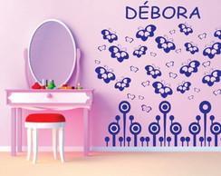 Peq. Kit Para Quarto Infantil borboletas