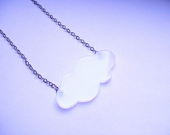 Colar Pingente Nuvem acr�lico