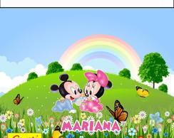 R�tulo Para Batom Mickey E Minnie Baby