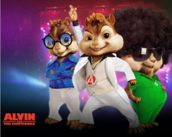 Painel Alvin e os  Esquilos