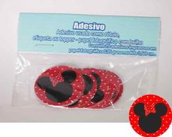 Minnie vermelha 25 Topper Adesivo R�tulo