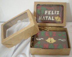 Cart�es de Natal de chocolate