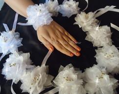 Corsage para madrinhas dos noivos