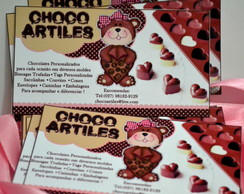 Cart�o de visita chocolate