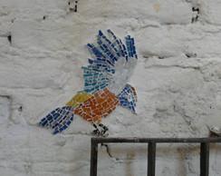 Mural de P�ssaros em Mosaico