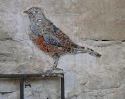 Mural de P�ssaro em Mosaico