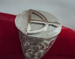 Anel do Orix� Oxoss� em prata ...