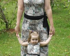Vestido Cuore Marrom M�e e Filha