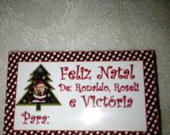Etiqueta de Presente Natal Personalizada