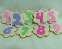 Biscoitos decorados - Letras e Numeros