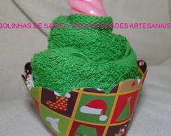 Cupcake Natal - Toalha