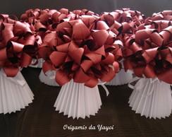 Vasinho plissado de origami