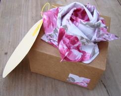 rosa-cart�o origami em tecido de rosas