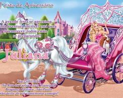 Convite - Barbie A Princesa E A Popstar