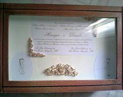 Caixa de casamento com convite